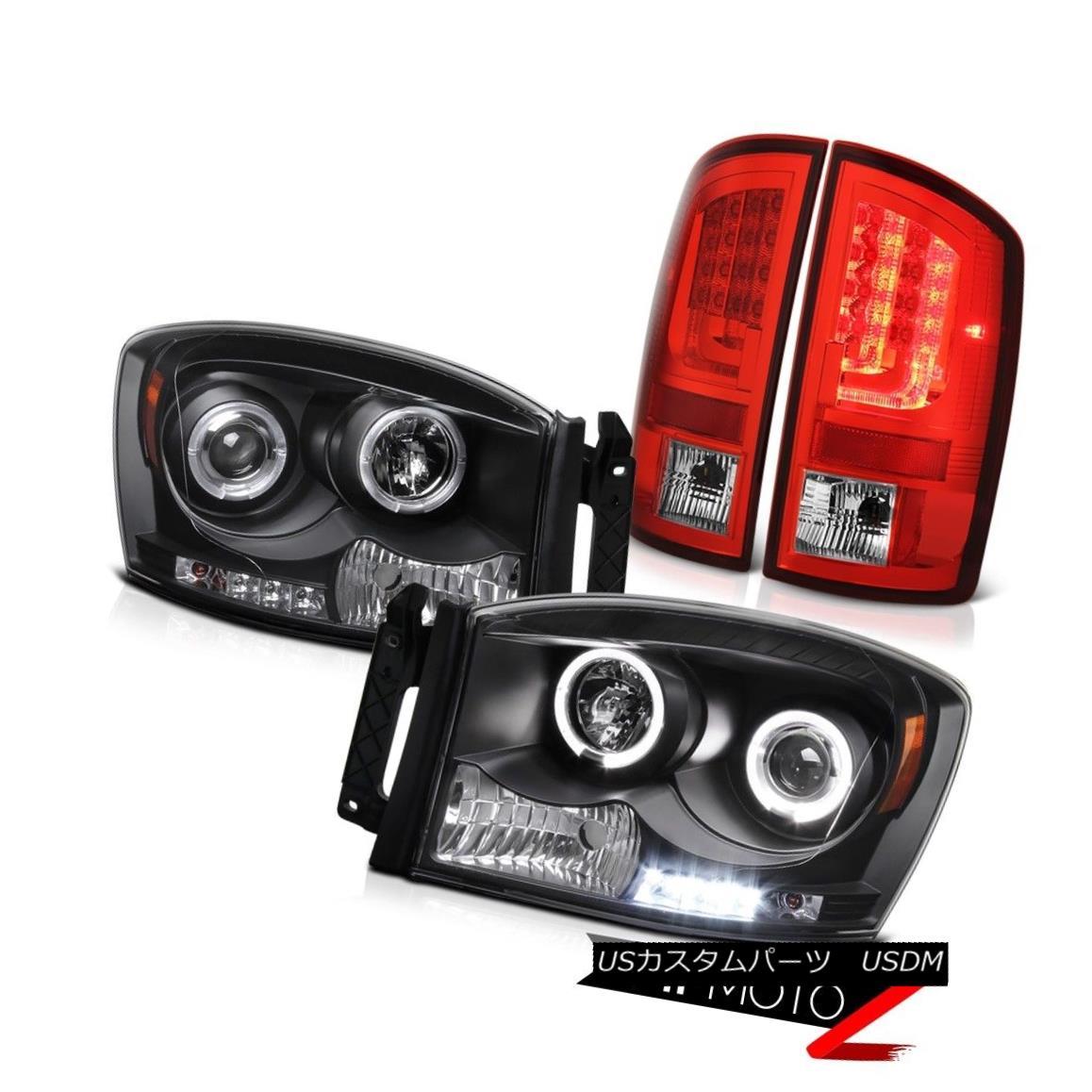ヘッドライト 2006 Ram WS Rosso Red Tail Brake Lamps Black Headlamps Light Bar LED Dual Halo 2006 Ram WS RossoレッドテールブレーキランプブラックヘッドランプライトバーLEDデュアルヘイロー