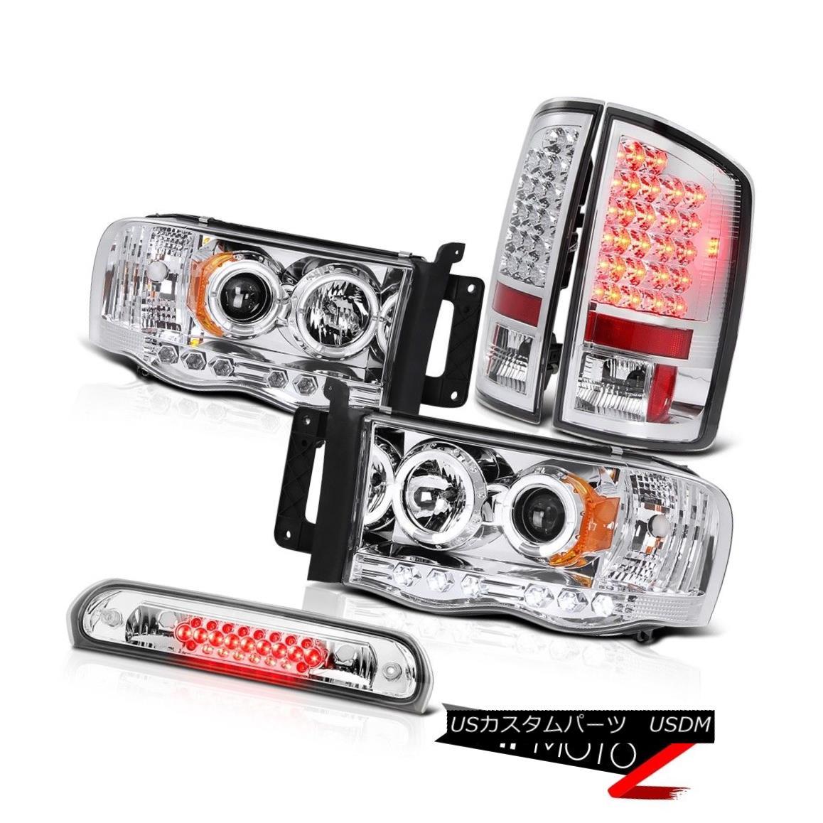ヘッドライト Euro Halo LED Headlights Bulb Brake Tail Lights High Cargo 02-05 Ram TurboDiesel ユーロHalo LEDヘッドライトバルブブレーキテールライトハイカーゴ02-05 Ram TurboDiesel