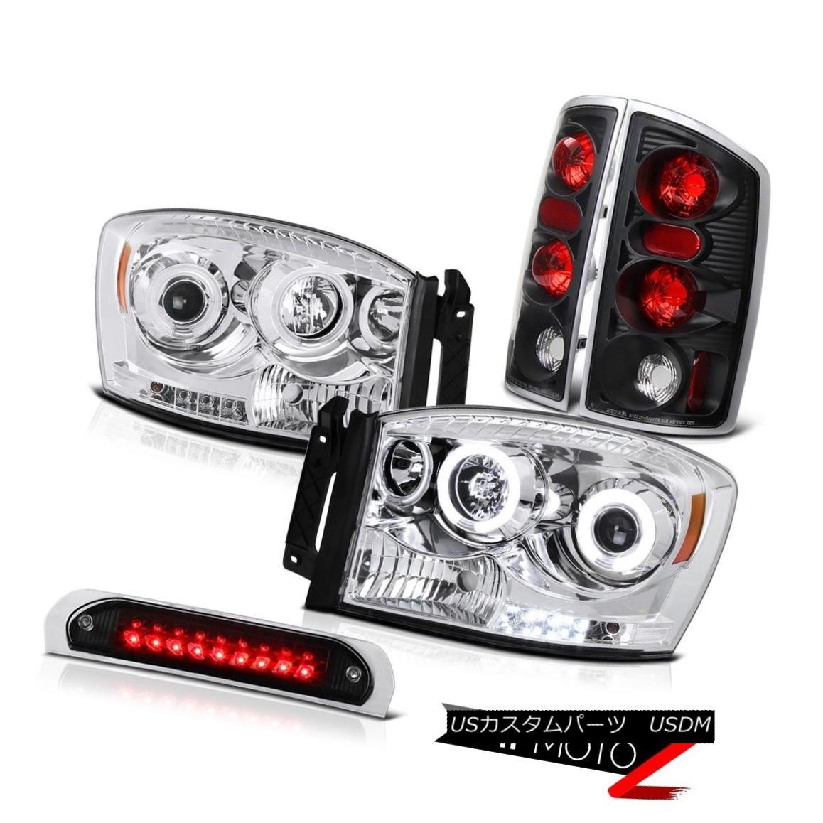 ヘッドライト DRL Halo CCFL Projector Headlights Rear Brake Lights Black 3rd LED 2006 Ram V8 DRL Halo CCFLプロジェクターヘッドライトリアブレーキライトブラック第3 LED 2006 Ram V8