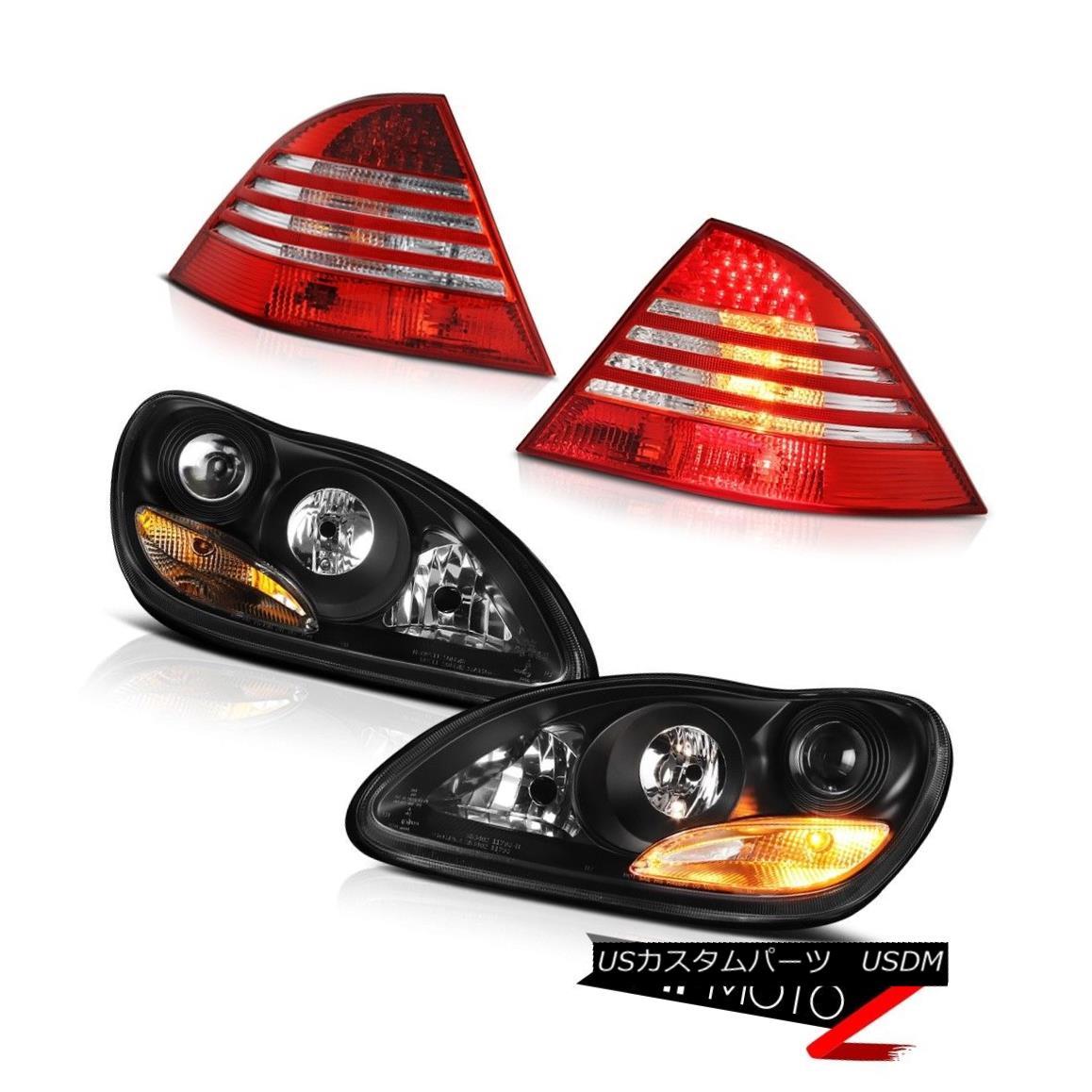 ヘッドライト 2000-2006 Mercedes Benz S430 S500 W220 S-Class Black Headlights LED Tail Lights 2000-2006メルセデスベンツS430 S500 W220 SクラスブラックヘッドライトLEDテールライト
