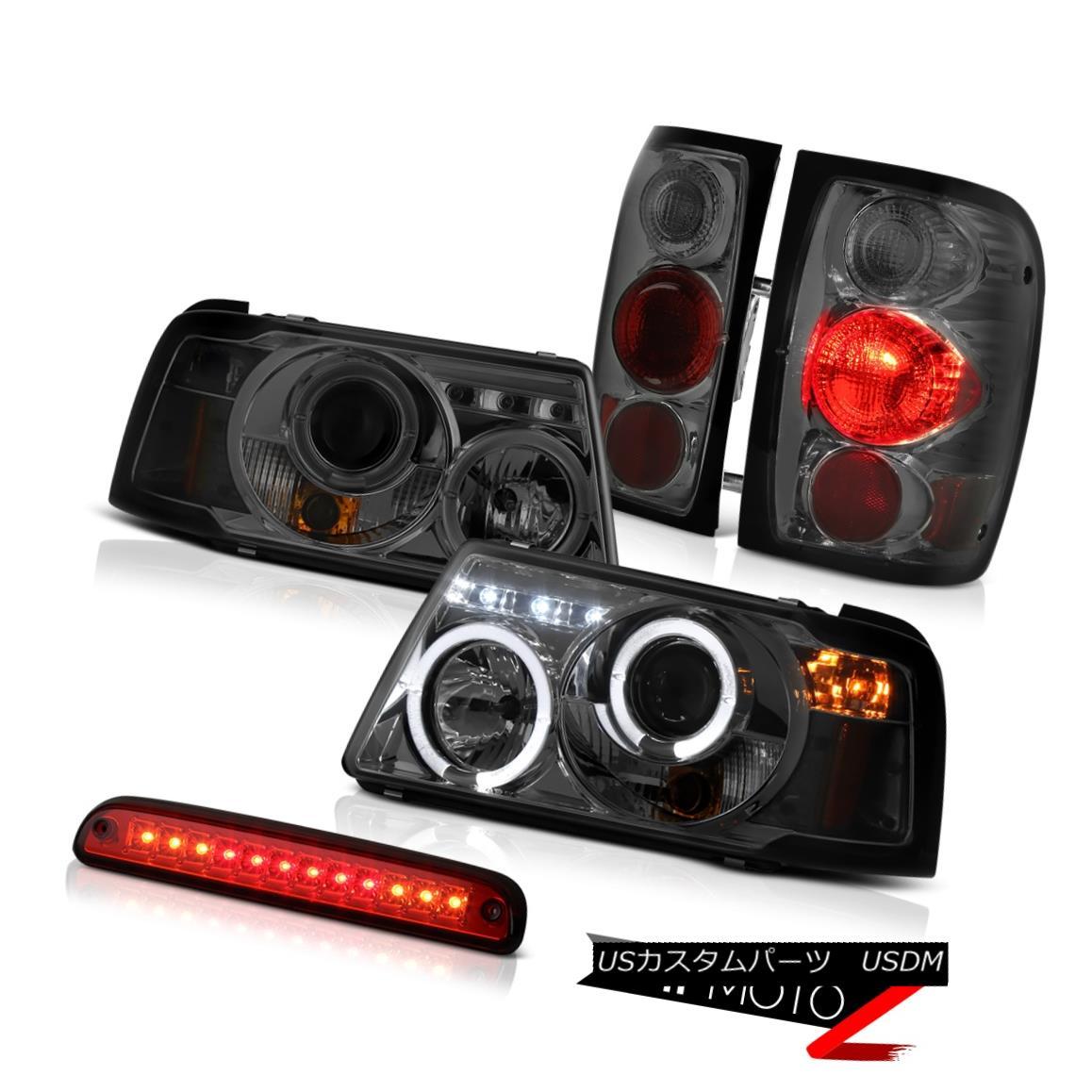 ヘッドライト Dark Halo Projector Tail Lights Brake Lamps Roof Stop LED Red 01-11 Ranger 4.0L ダークハロープロジェクターテールライトブレーキランプルーフストップLEDレッド01-11レンジャー4.0L