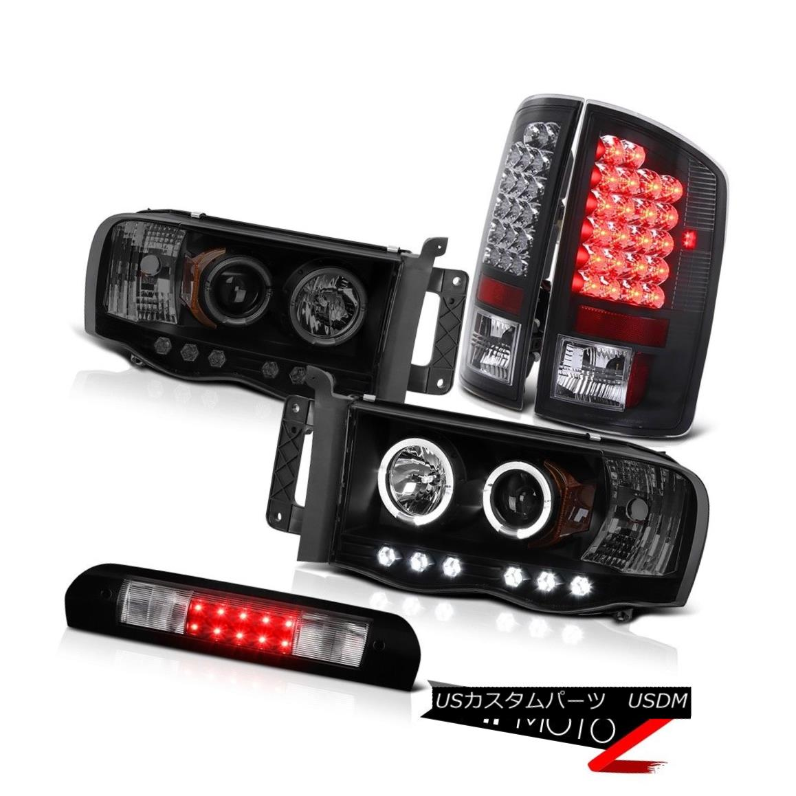 ヘッドライト SMD DRL Sinister Black Headlamps Bright LED Tail Lights 3rd 2002-2005 Ram 2500 SMD DRL Sinisterブラックヘッドランプ明るいLEDテールライト3rd 2002-2005 Ram 2500
