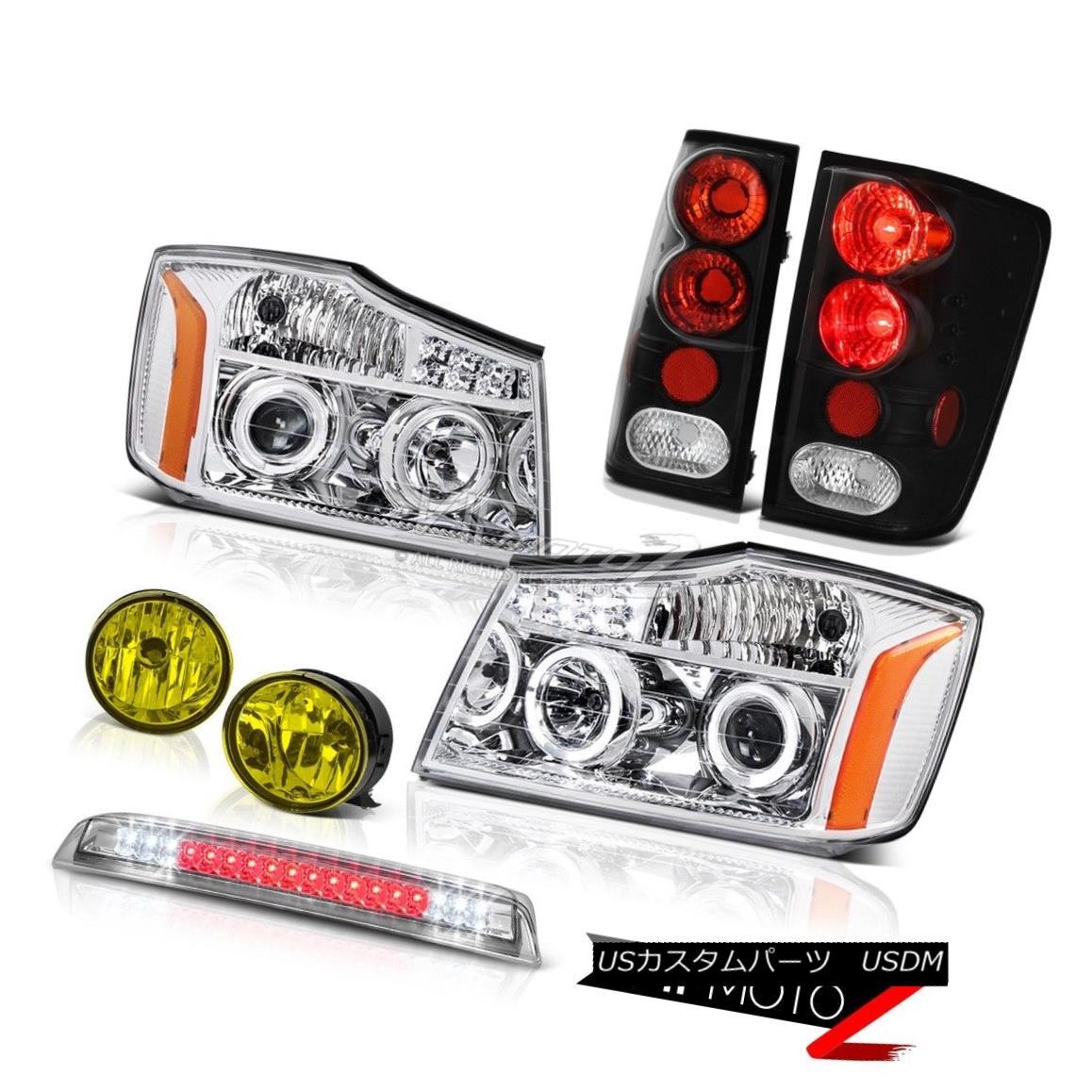 ヘッドライト Projector Headlights Tail Lights Halo Fog Brake Cargo LED For 04-15 Titan 4X4 プロジェクターヘッドライトテールライトHalo Fog Brake Cargo LED For 04-15 Titan 4X4