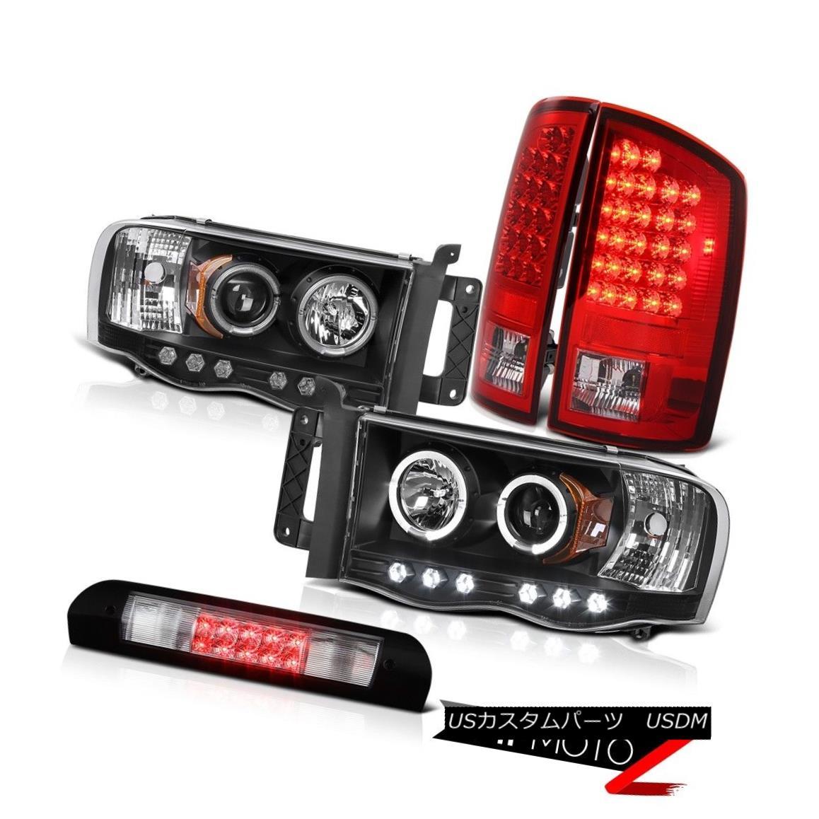 ヘッドライト 2x Angel Eye Headlights Signal Taillamps Third Brake Cargo 02 03 04 05 Ram 2500 2xエンジェルアイヘッドライト信号タイルランプ第3ブレーキ貨物02 03 04 05 Ram 2500