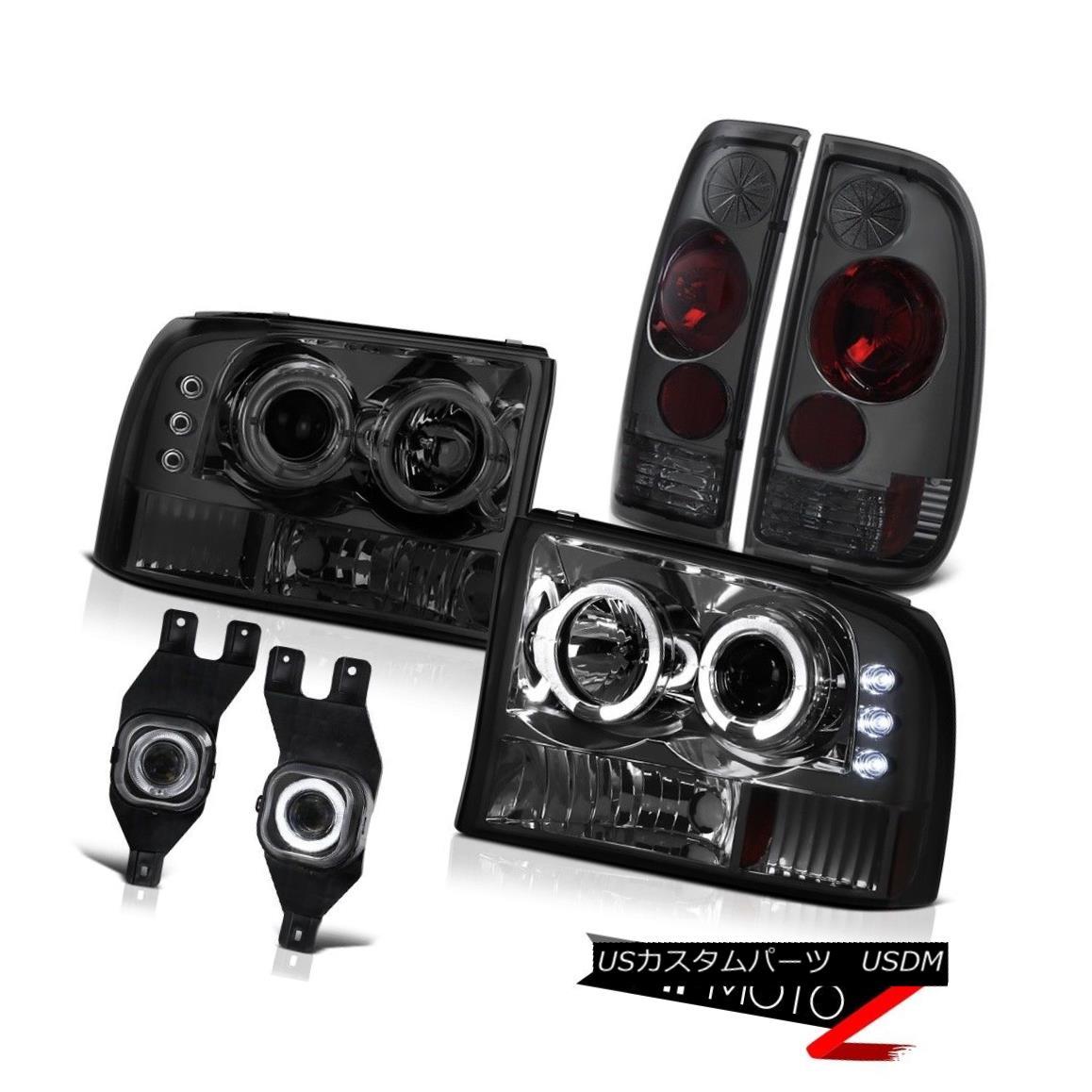 ヘッドライト 2001-2004 Ford F250 F350 F450 SuperDuty Smoke Headlight Tail Light Fog Lamp Halo 2001-2004フォードF250 F350 F450 SuperDuty煙ヘッドライトテールライトフォグランプ