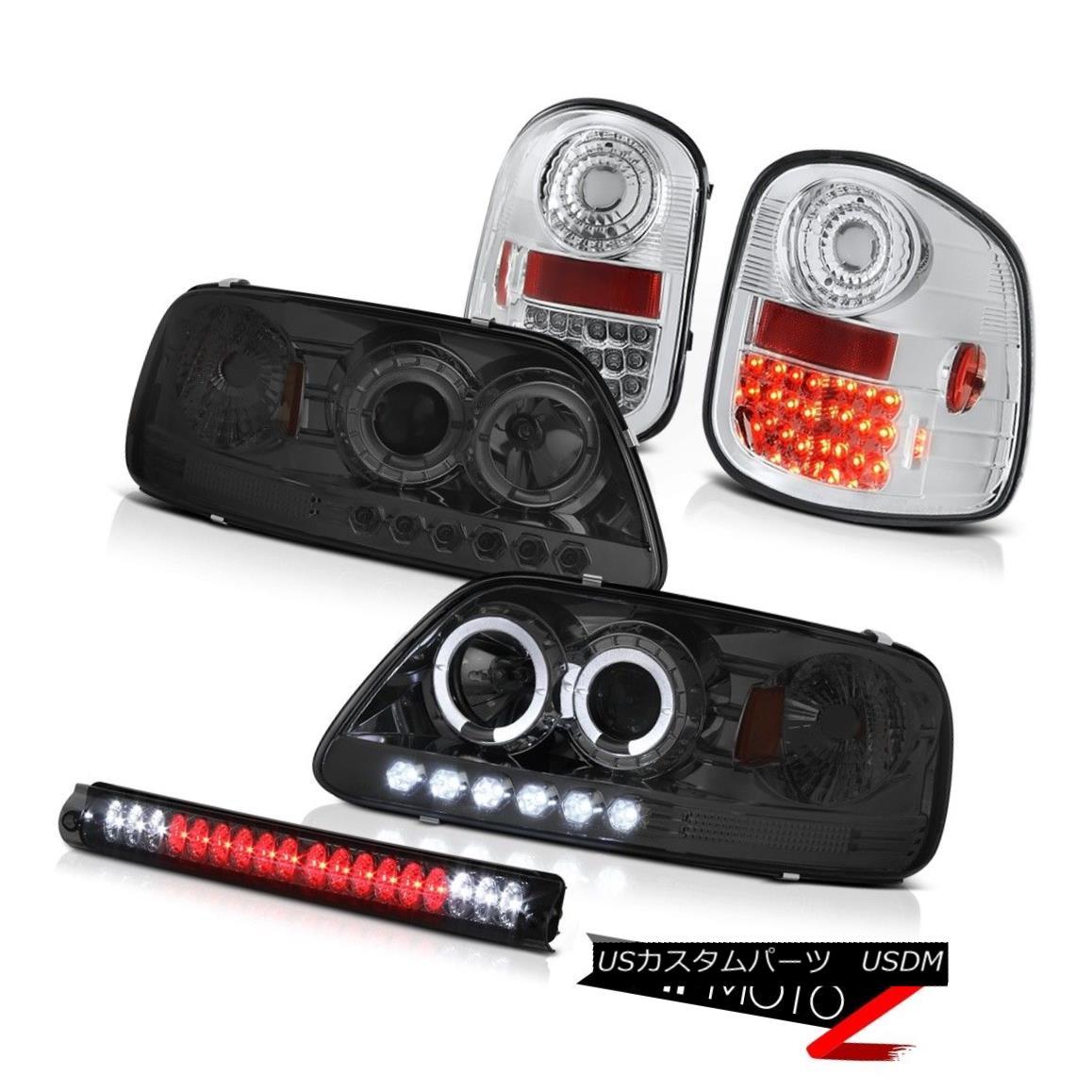 ヘッドライト 97-03 F150 Flareside XL Smoke Halo Headlights LED Tail Lights Roof Stop Tinted 97-03 F150 Flareside XL煙ハローヘッドライトテールライトルーフストーンテント