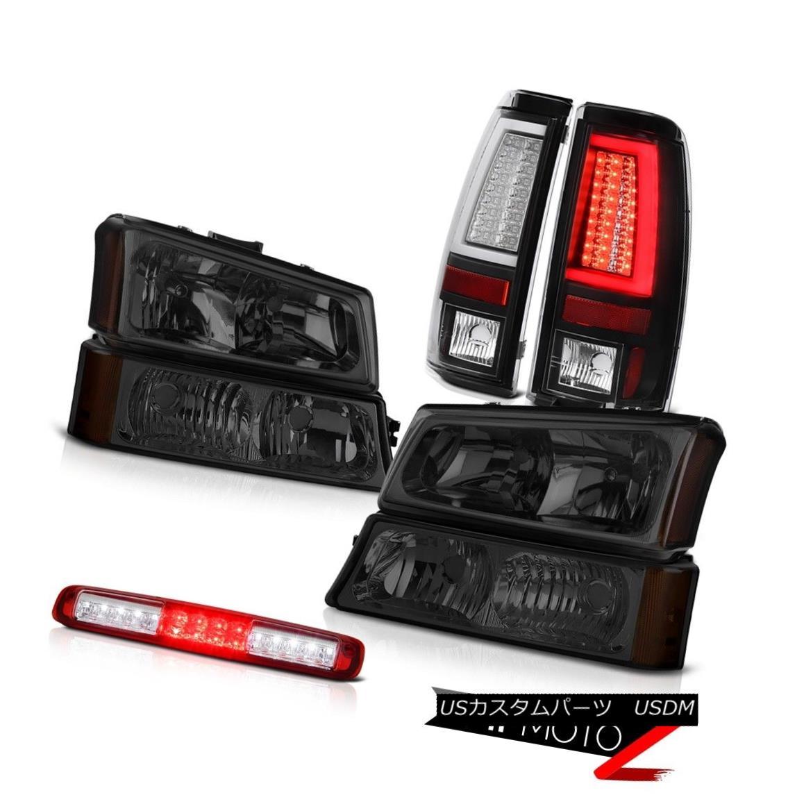 ヘッドライト 03-06 Chevy Silverado Black Taillamps Dark Smoke Signal Lamp 3RD Brake Headlamps 03-06 Chevy Silverado Black Taillampsダークスモークシグナルランプ3RDブレーキヘッドランプ