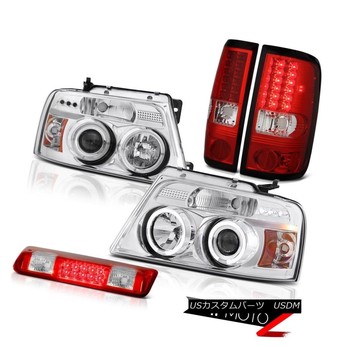 ヘッドライト 2004-2008 Ford F150 XLT 3rd Brake Lamp Headlamps Taillamps Halo Ring