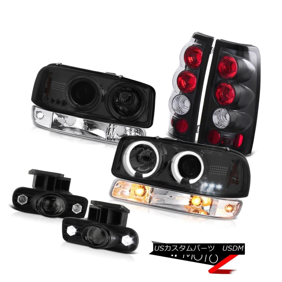 ヘッドライト 99-02 Sierra GMT800 Smokey foglights tail brake lights bumper light headlights 99-02 Sierra GMT800スモーキーフォグライトテールブレーキライトバンパーライトヘッドライト