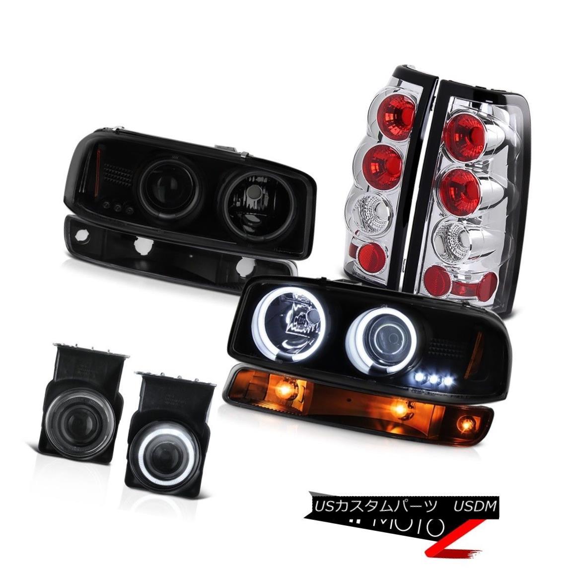 ヘッドライト 2003-2006 Sierra 6.6L Foglamps chrome rear brake lamps bumper lamp headlights 2003-2006 Sierra 6.6L Foglampsクロームリアブレーキランプバンパーランプヘッドライト