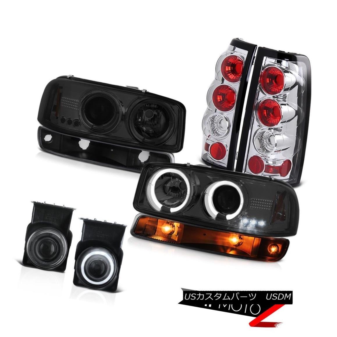 ヘッドライト 2003-2006 Sierra 6.0L Smoked fog lamps tail inky black turn signal Headlights 2003-2006シエラ6.0Lスモークフォグランプテールインキブラックターンシグナルヘッドライト
