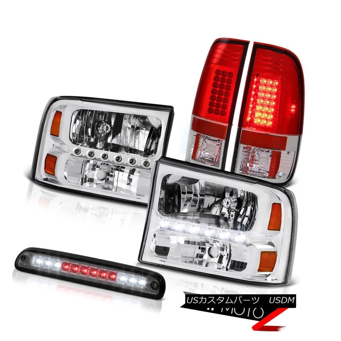 ヘッドライト Left Right Headlights Roof Brake Cargo LED Red Tail Light 1999-2004 F250 XLT 左の右のヘッドライトルーフブレーキ貨物LED赤テールライト1999-2004 F250 XLT