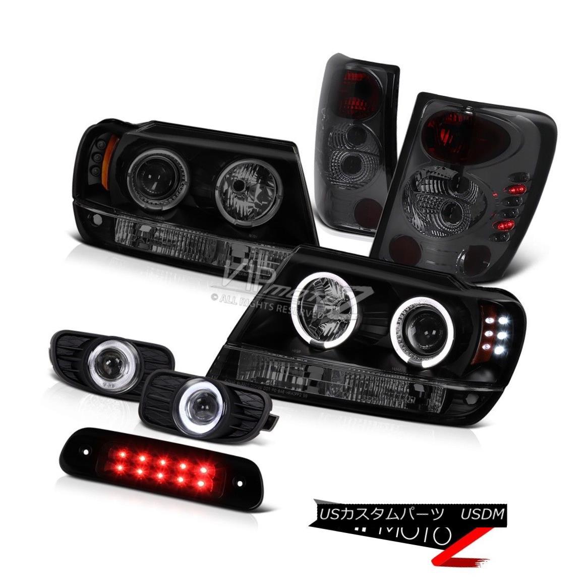 ヘッドライト 99-03 Jeep Grand Cherokee 4WD 3RD Brake Light Fog Lamps Tail Headlights LED Bk 99-03ジープグランドチェロキー4WD 3RDブレーキライトフォグランプテールヘッドライトLED Bk
