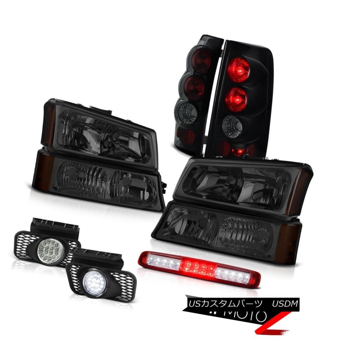 ヘッドライト 03-06 Silverado Parking Light Wine Red High Stop Lamp Headlamps Fog Lights Tail 03-06 Silverado駐車ライトライトワインレッドハイストップランプヘッドランプフォグライトテール