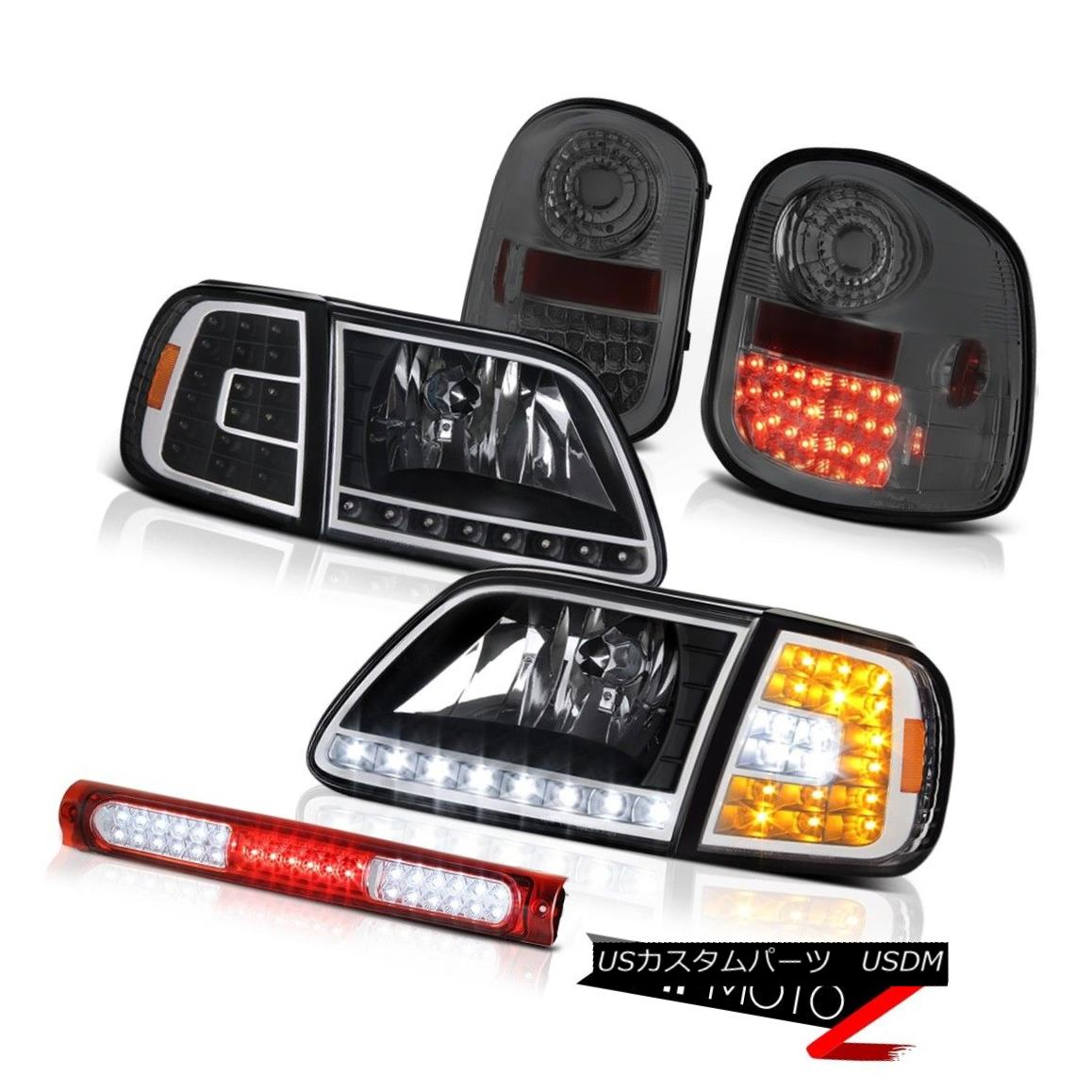 ヘッドライト Headlights LED Bumper Smoke Tail Lights Red Third 97-03 F150 Flareside Lightning ヘッドライトLEDバンパー煙テールライトレッドThird 97-03 F150 Flareside Lightning