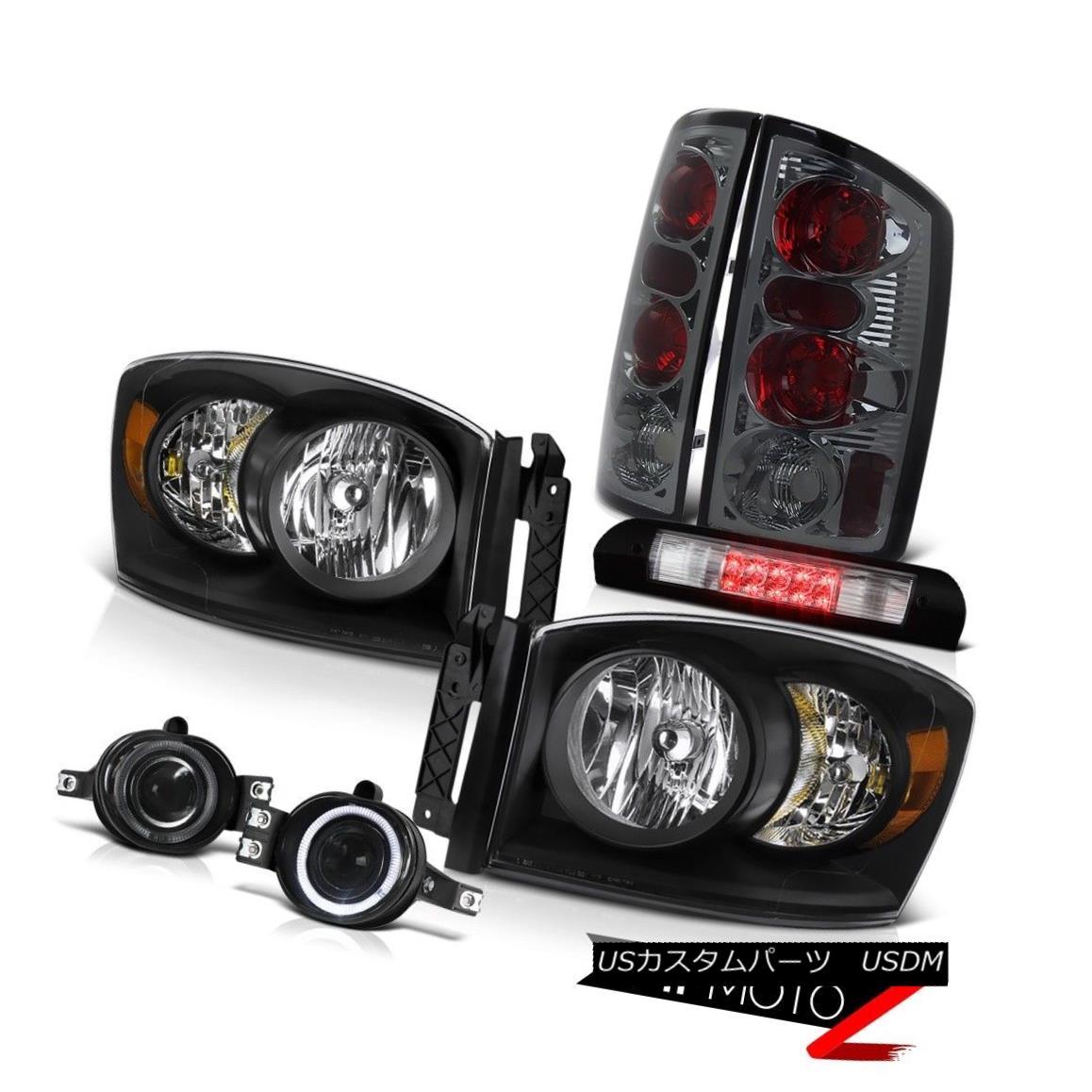ヘッドライト Black Headlamps Brake Tail Lamp Projector Fog High Stop LED 2006 Dodge Ram 2500 ブラックヘッドランプブレーキテールランププロジェクターフォグハイストップLED 2006 Dodge Ram 2500