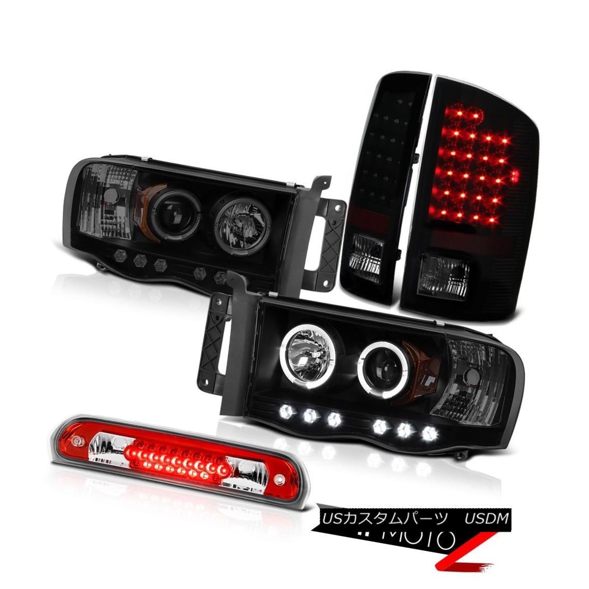 ヘッドライト Smoke Halo Headlights Sinister LED Tail Lights Roof Brake 02-05 Ram TurboDiesel スモークハローヘッドライト不快なLEDテールライトルーフブレーキ02-05 Ram TurboDiesel