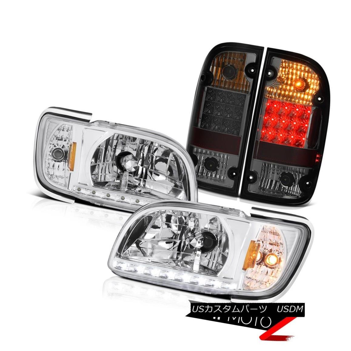 ヘッドライト 01-04 Toyota Tacoma SR5 Tail brake lamps crystal clear headlamps corner OE Style 01-04トヨタタコマSR5テールブレーキランプクリスタルクリアヘッドランプコーナーOEスタイル