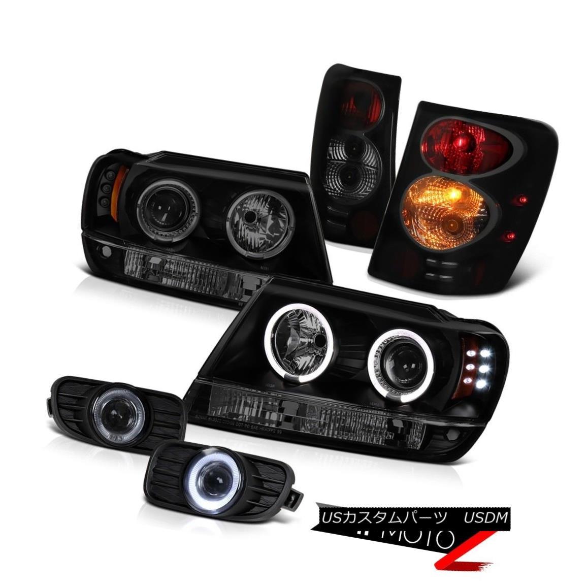 ヘッドライト 1999-2003 Grand Cherokee WG Headlight Projector Halo LED Rear Tail Lamps Fog 4X4 1999-2003グランドチェロキーWGヘッドライトプロジェクターHalo LEDリアテールランプフォグ4X4