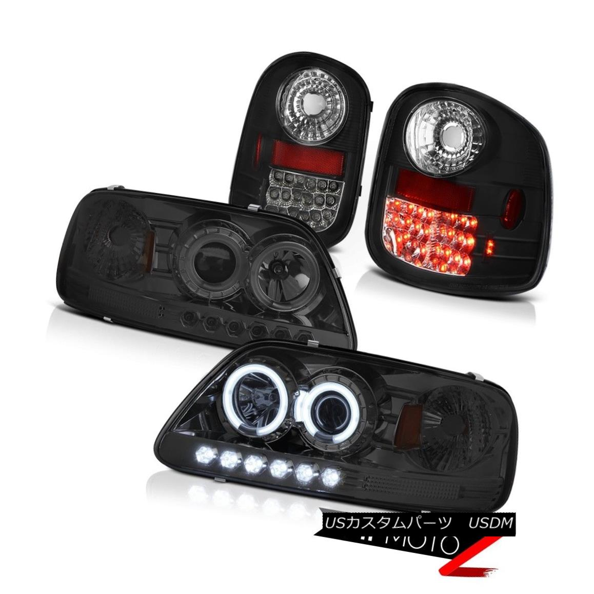 ヘッドライト Devil's Eye CCFL Halo Headlights Bright LED Tail Lights 97-03 F150 Flareside SVT 悪魔の目CCFL HaloヘッドライトブライトLEDテールライト97-03 F150 Flareside SVT