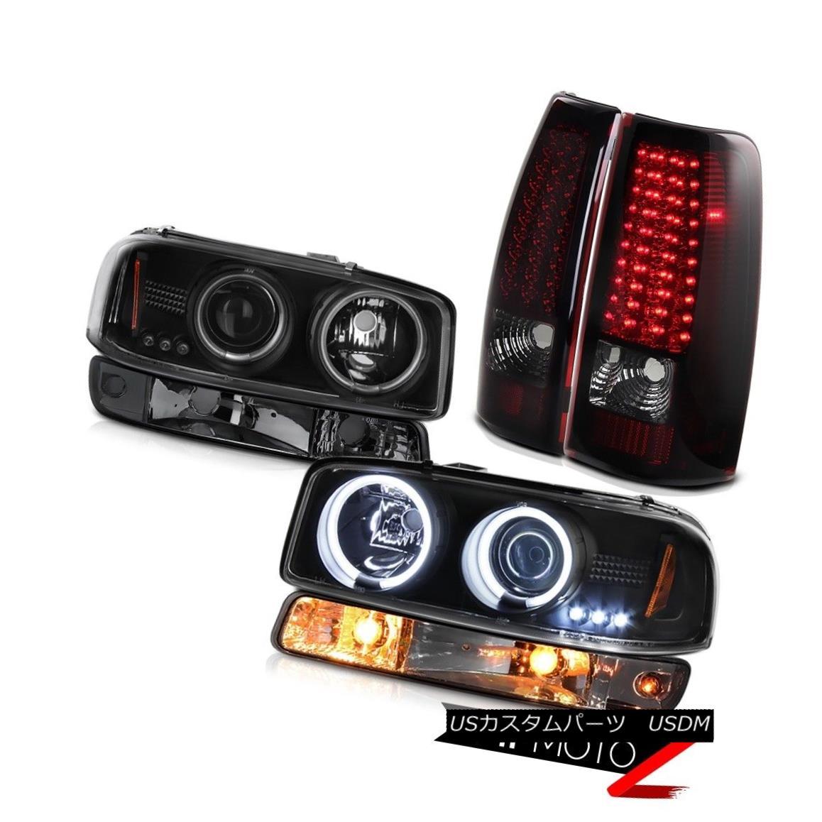 ヘッドライト 99-06 Sierra 2500HD Taillamps signal light inky black ccfl projector headlamps 99-06 Sierra 2500HD Taillamps信号光インクブラックccflプロジェクターヘッドランプ