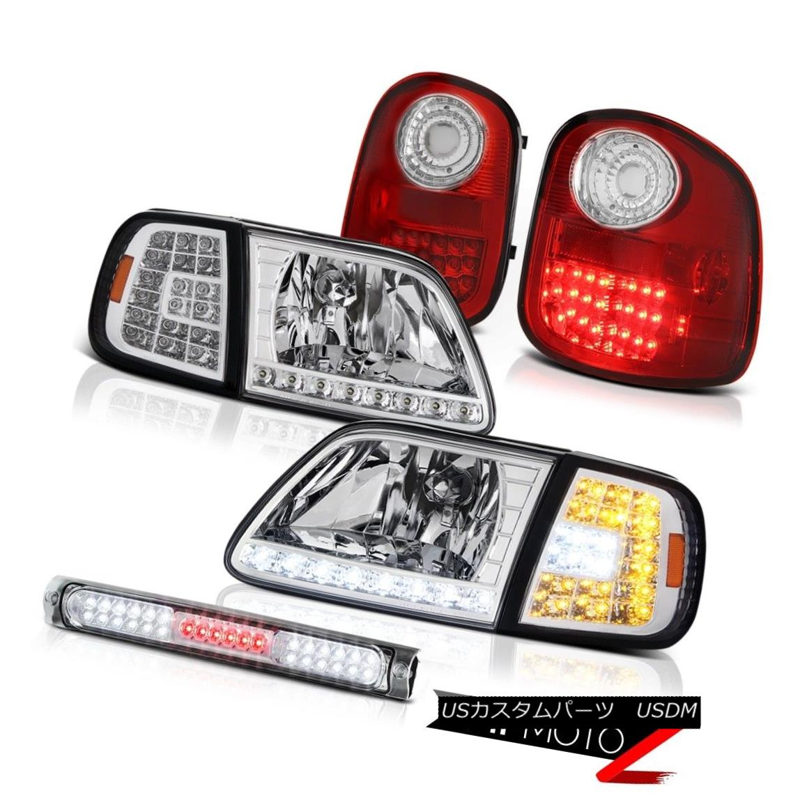 ヘッドライト 97-03 F150 Flareside Hertiage LED Headlights Tail Light Assembly Roof Stop Clear 97-03 F150 Flareside Heritage LEDヘッドライトテールライトアセンブリルーフストップクリア