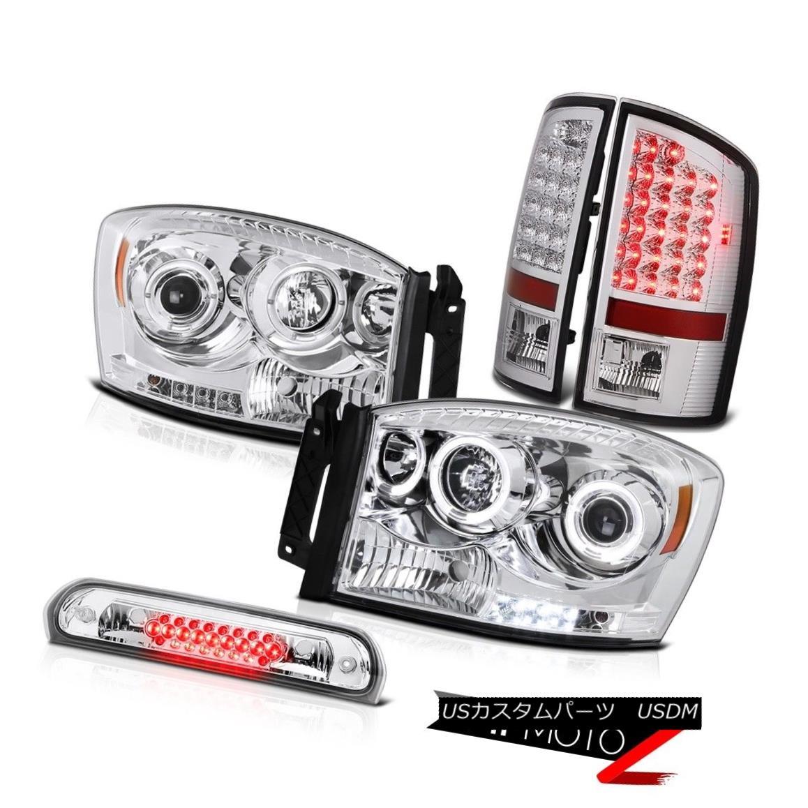 ヘッドライト Chrome Halo Headlights LED Taillamps High Brake Cargo 2007-2008 Ram TurobDiesel クロームハローヘッドライトLEDタイルランプハイブレーキ貨物2007-2008 Ram TurobDiesel