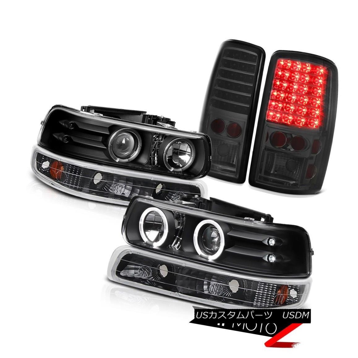 ヘッドライト 00 01 02 03 04 05 06 Suburban 5.7L Angel Eye Headlight Bumper Parking Tail Light 00 01 02 03 04 05 06郊外5.7Lエンジェルアイヘッドライトバンパー駐車テールライト