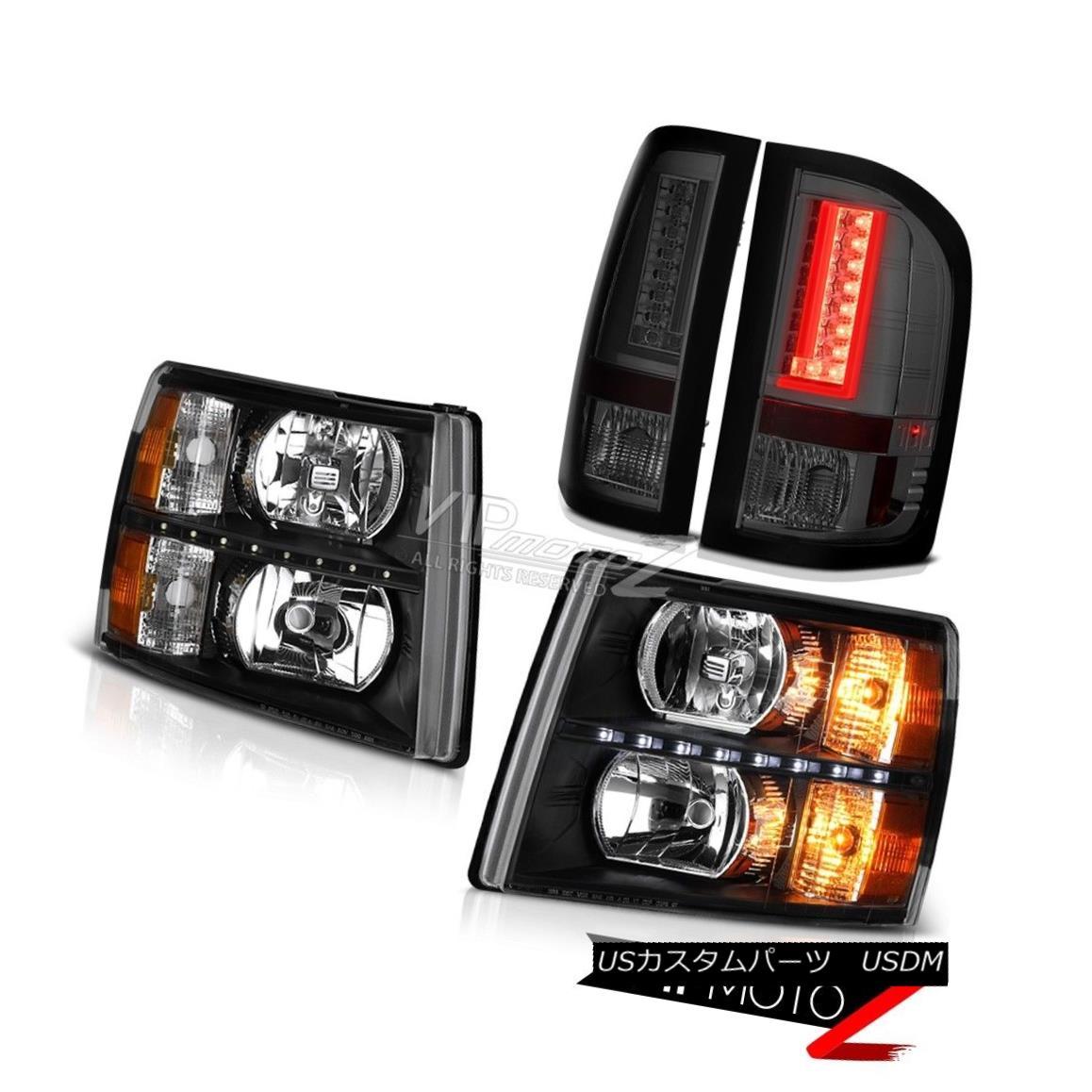 ヘッドライト 2007-2013 Chevy Silverado 1500 Rear Brake Lights Headlamps LED DRL