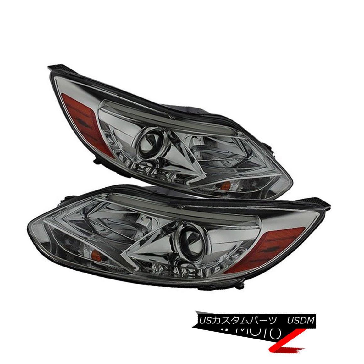 ヘッドライト Left+Right Pair Smoke Halo Projector Headlight Lamp 2012-14 Ford Focus SEL/SE/S 左+右ペア煙ハロープロジェクターヘッドライトランプ2012-14 Ford Focus SEL / SE / S