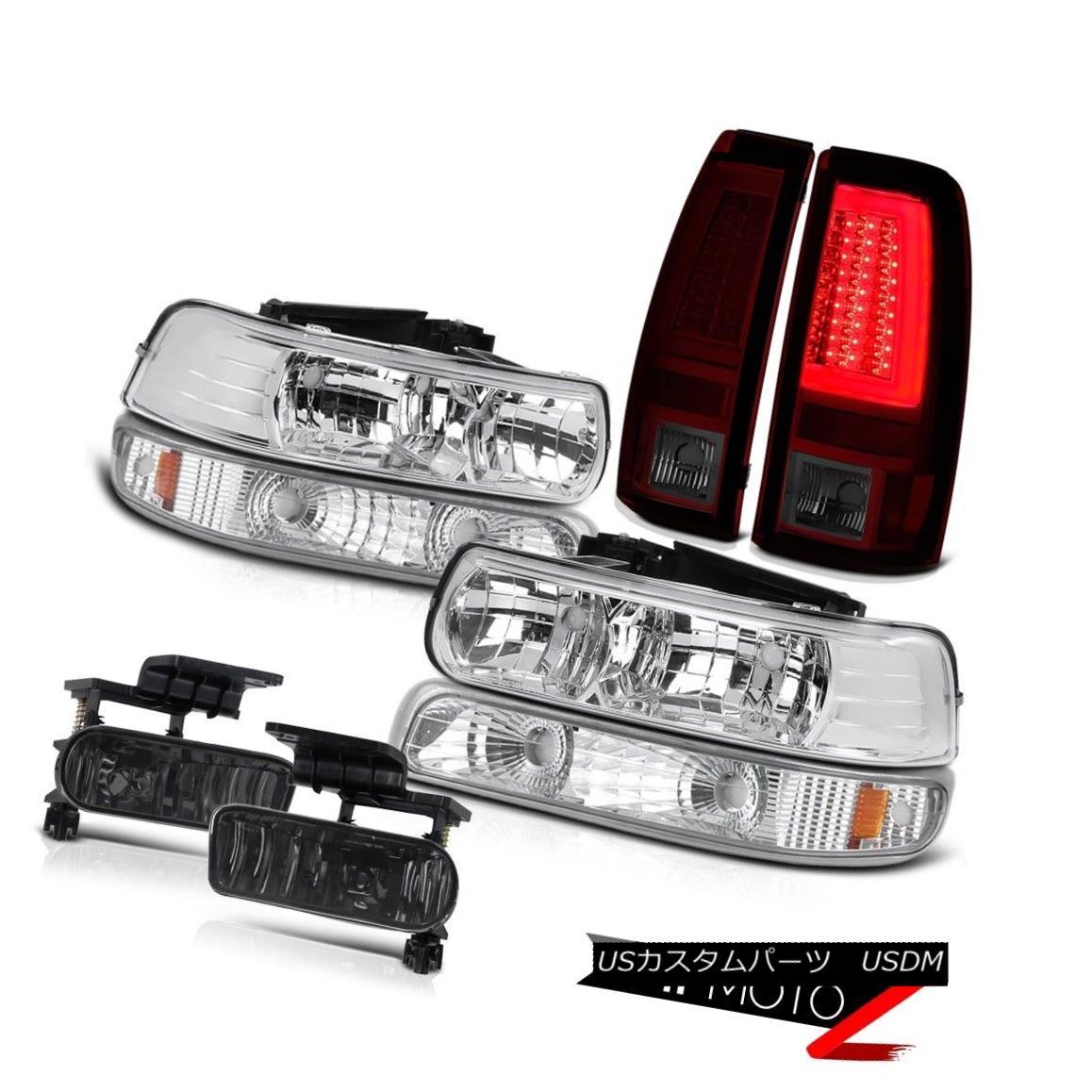 ヘッドライト 99-02 Chevy Silverado Taillamps Chrome Signal Lamp Headlamps Foglights Assembly 99-02 Chevy Silverado Taillampsクロームシグナルランプヘッドランプフォグライトアセンブリ