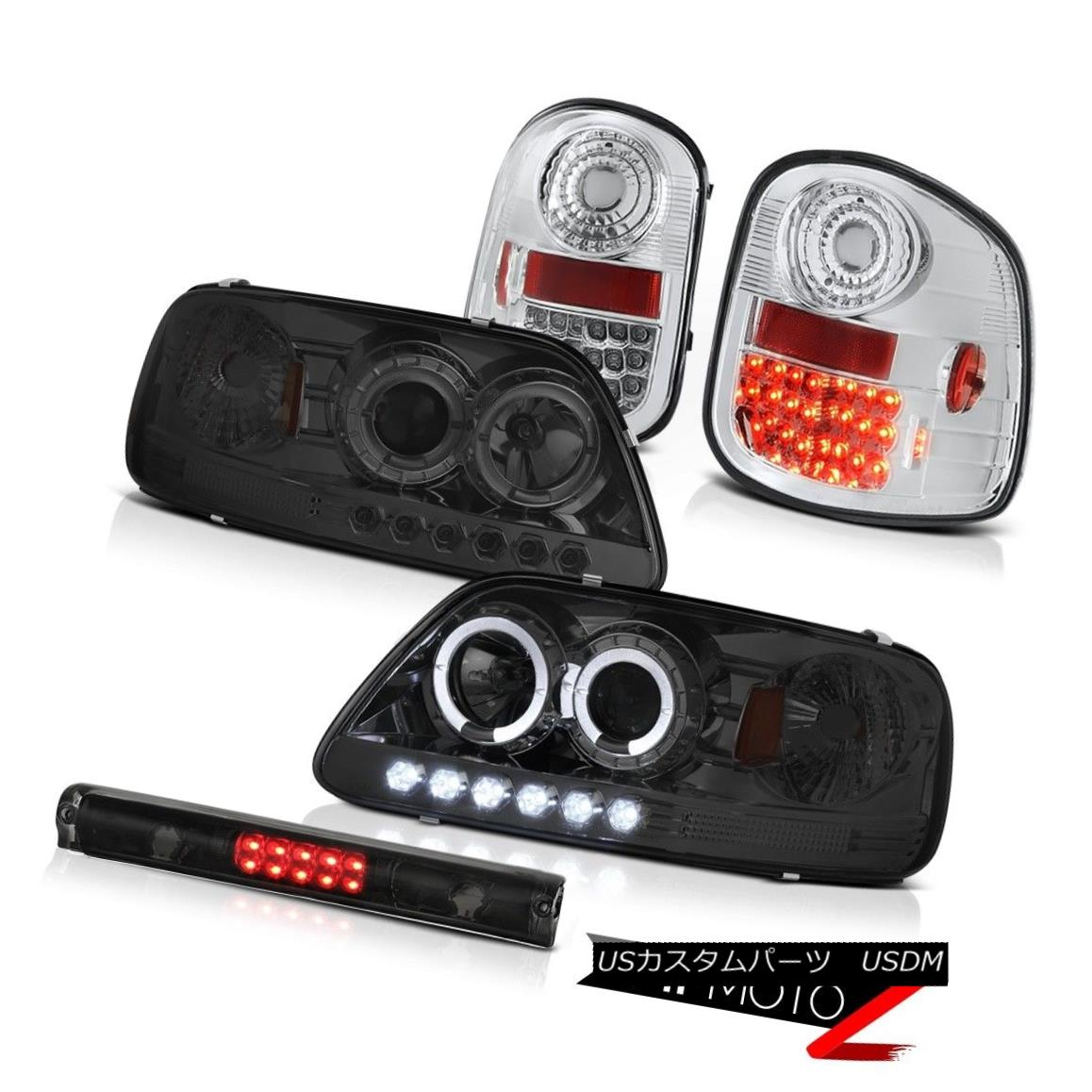 ヘッドライト Dark Halo LED Headlamps Bulb Brake Tail Lights 1997-2003 F150 Flareside Hertiage ダークハローLEDヘッドライトバルブブレーキテールライト1997-2003 F150 Flareside Heritage