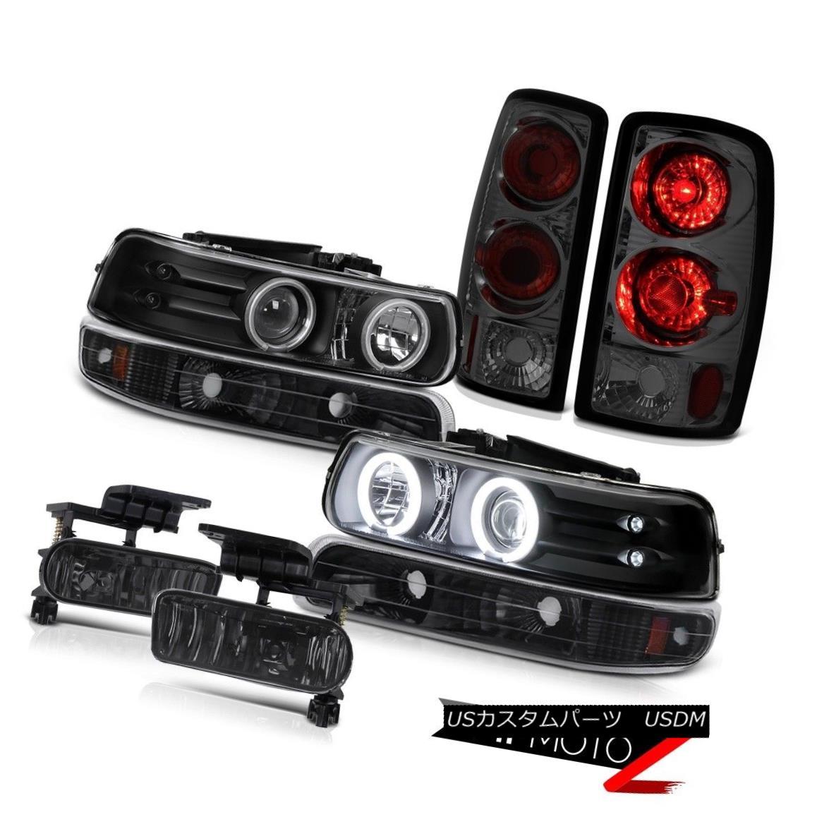 ヘッドライト [BRIGHTEST] CCFL Rim Headlight Tinted Brake Light Smoke Fog 00-06 Chevy Suburban [明るい] CCFLリムヘッドライト薄いブレーキライト煙霧00-06シボレー郊外