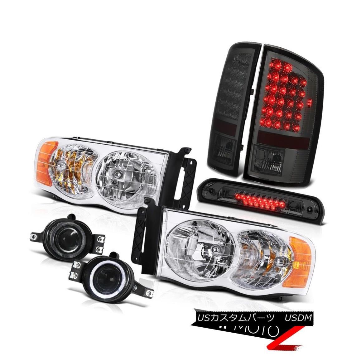 ヘッドライト 02-05 Ram 2500 Factory Style Headlights Smoke Taillights Glass Projector Fog 3rd 02-05 Ram 2500工場スタイルのヘッドライト煙の灯りガラスプロジェクターフォグ3rd