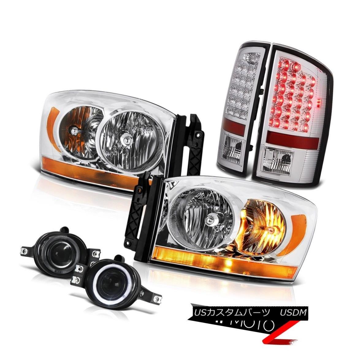 ヘッドライト 2007-2009 Dodge Ram 3500 5.7L Headlamps Titanium Smoke Foglights Tail Lights 2007-2009 Dodge Ram 3500 5.7Lヘッドランプチタンスモークフォグライトテールライト