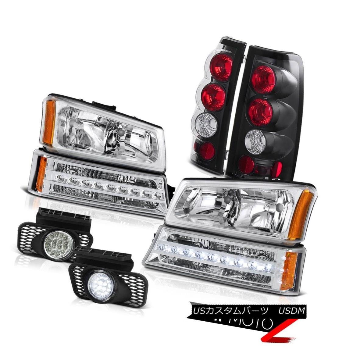 ヘッドライト 03-06 Silverado 1500 Clear chrome fog lamps taillights turn signal headlamps 03-06 Silverado 1500クリアクロームフォグランプテールライトヘッドランプ