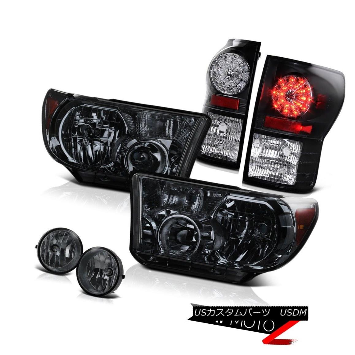 ヘッドライト Smoke Diamond Headlight+LED Brake Lamp Tail Light+Fog Lamp 07-2013 Toyota Tundra 煙ダイヤモンドヘッドライト+ LEDブレーキランプテールライト+フォグランプ07-2013 Toyota Tundra