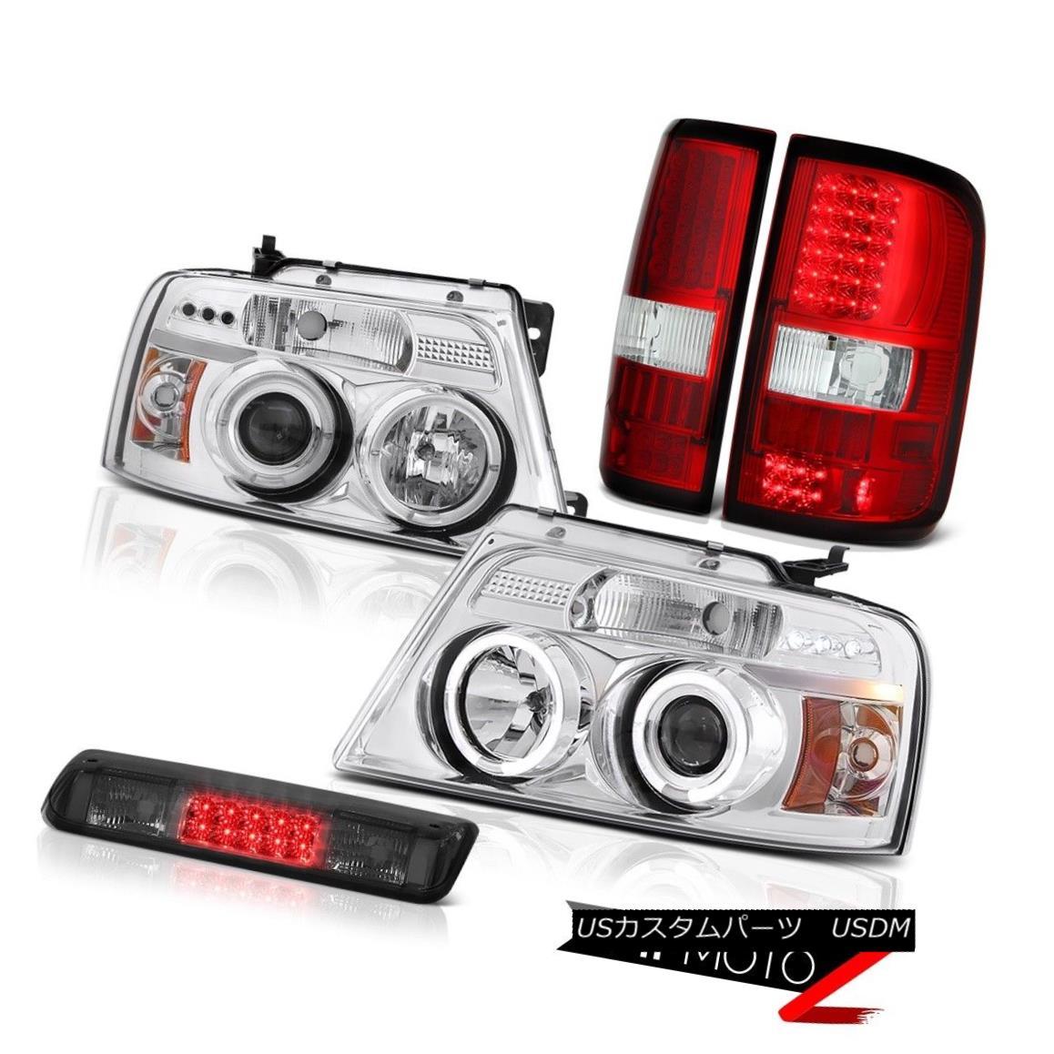 ヘッドライト 04-08 Ford F150 XLT Roof Brake Lamp Tail Lamps Headlights Angel Eyes