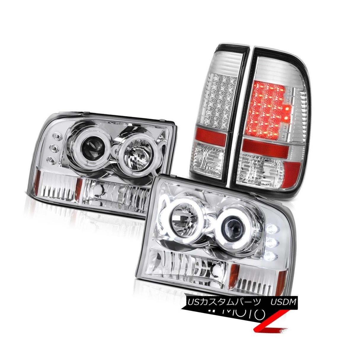 ヘッドライト 1999-2004 Ford F250 F350 SuperDuty CCFL Halo Angel Eye Headlight Tail Light Lamp 1999-2004 Ford F250 F350 SuperDuty CCFL Halo Angelヘッドライトテールライトランプ