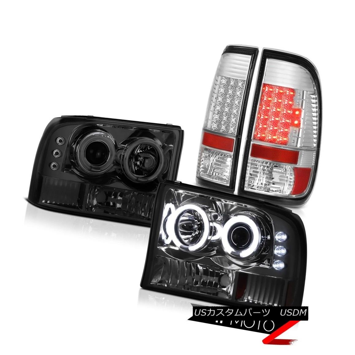 ヘッドライト Tinted CCFL Rim Projector Headlights Chrome LED Taillights 1999-2004 Ford F350 ティンテッドCCFLリムプロジェクターヘッドライトクロームLEDテールライト1999-2004 Ford F350