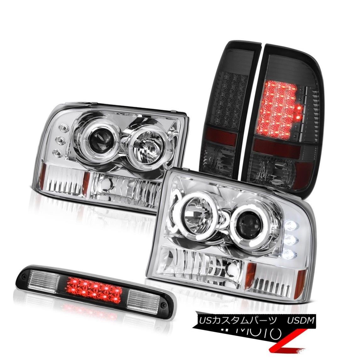 ヘッドライト Chrome LED Daytime Headlights Smoke Taillights High Stop Black 99-04 F250 6.8L クロームLED昼間ヘッドライト煙灯灯ハイストップブラック99-04 F250 6.8L