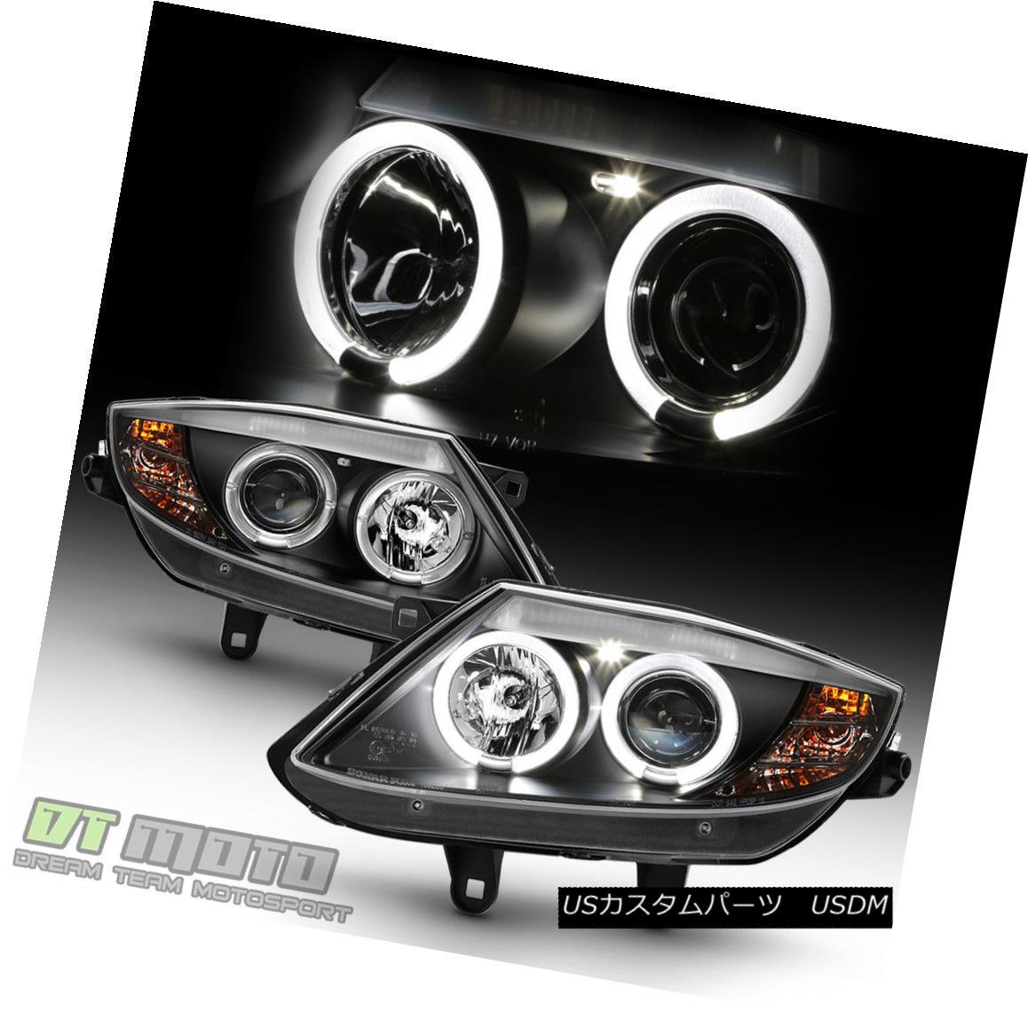 ヘッドライト 2003-2008 BMW Z4 Black LED Halo [HID Version] Projector Headlights Headlamps Set 2003-2008 BMW Z4 Black LED Halo [HIDバージョン]プロジェクターヘッドライトヘッドランプセット