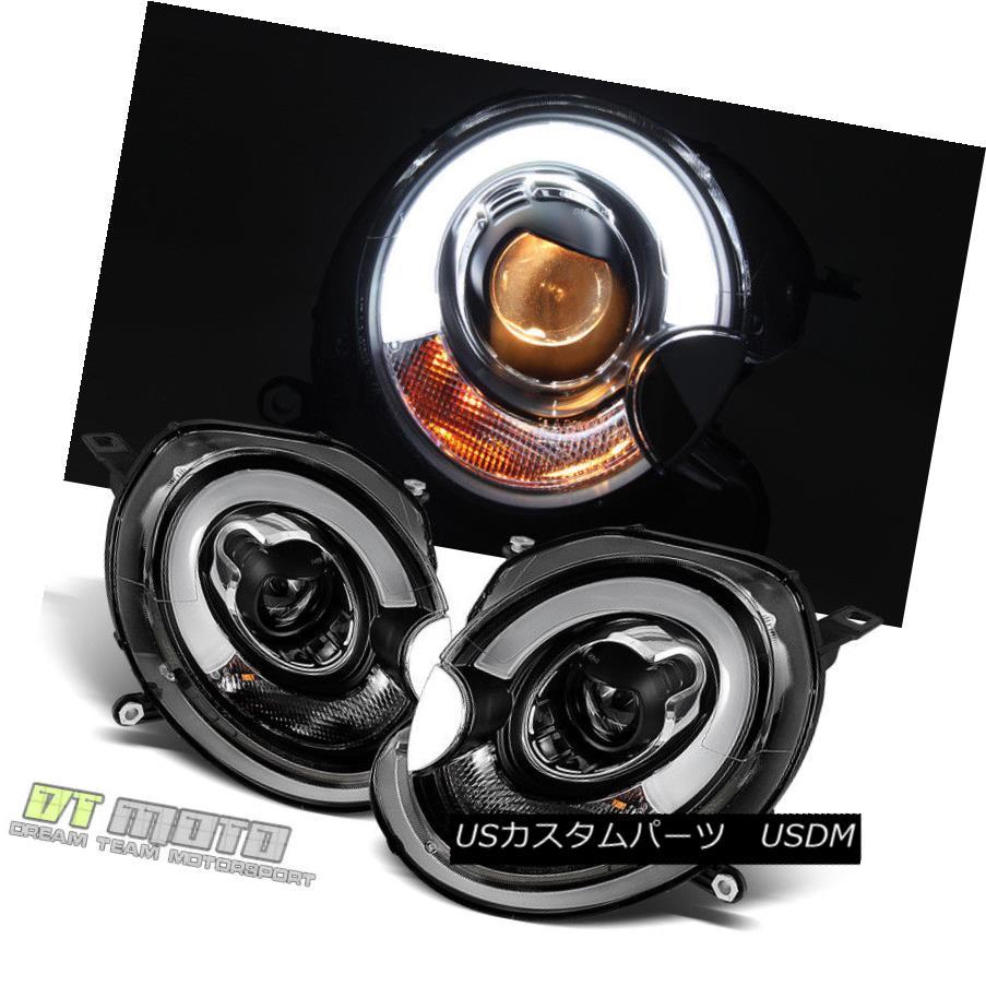 ヘッドライト Blk 2007-2013 Mini Cooper LED Light Tube DRL Projector Headlights Headlamps Pair Blk 2007-2013ミニクーパーLEDライトチューブDRLプロジェクターヘッドライトヘッドランプペア