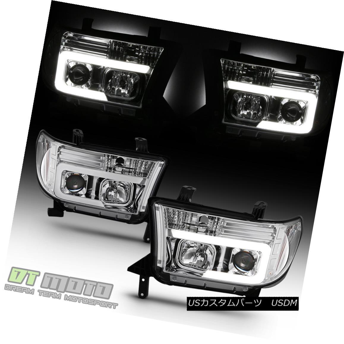 ヘッドライト 2007-2013 Toyota Tundra 08-17 Sequoia LED Optic Light Tube Projector Headlights 2007-2013トヨタ・トンドラ08-17セコイアLEDオプティカル・ライト・チューブ・プロジェクター・ヘッドライト