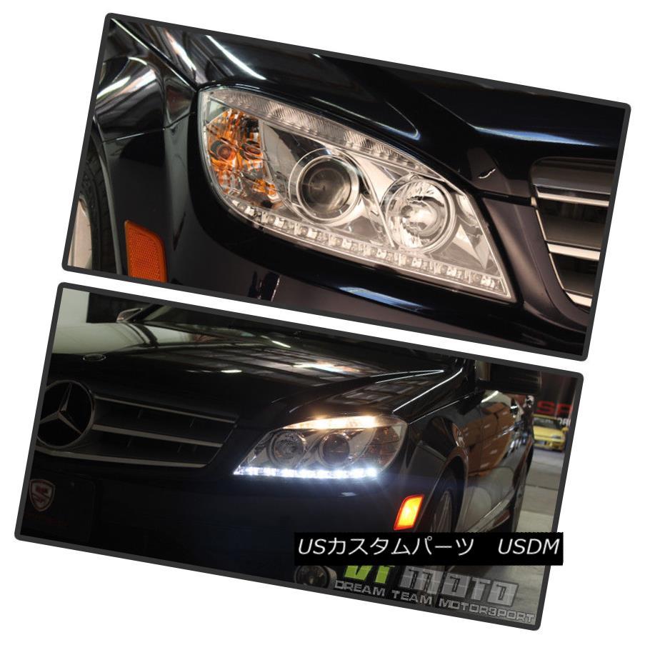 ヘッドライト 2008-2011 Mercedes Benz C-Class W204 C300 C350 C63 LED DRL Projector Headlights 2008-2011メルセデスベンツCクラスW204 C300 C350 C63 LED DRLプロジェクターヘッドライト