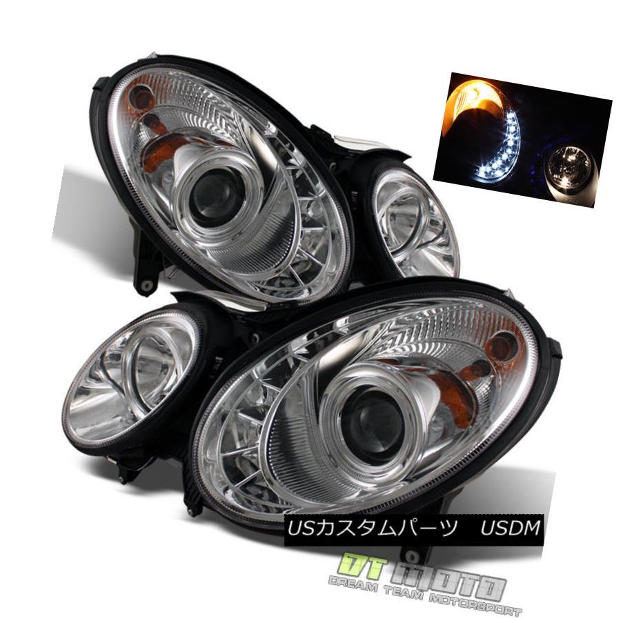 ヘッドライト 2007-2009 Mercedes-Benz W211 E-Class LED DRL Running Light Projector Headlights 2007 - 2009年メルセデスベンツW211 EクラスLED DRLランニングライトプロジェクターヘッドライト