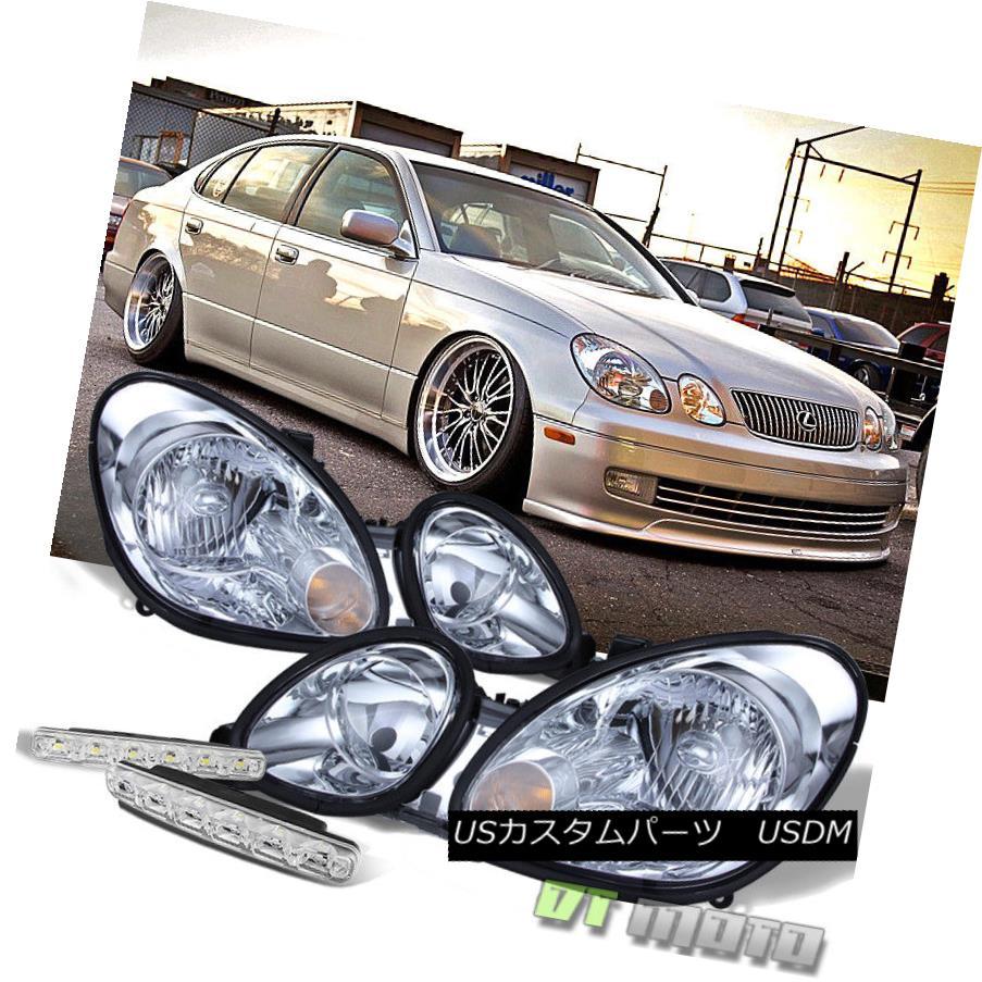 ヘッドライト For 98-05 Lexus GS300 GS400 GS430 Replacement Headlights+Smd Bumper Fog Lghts 98-05用Lexus GS300 GS400 GS430交換用ヘッドライト+バンパーフォグライト