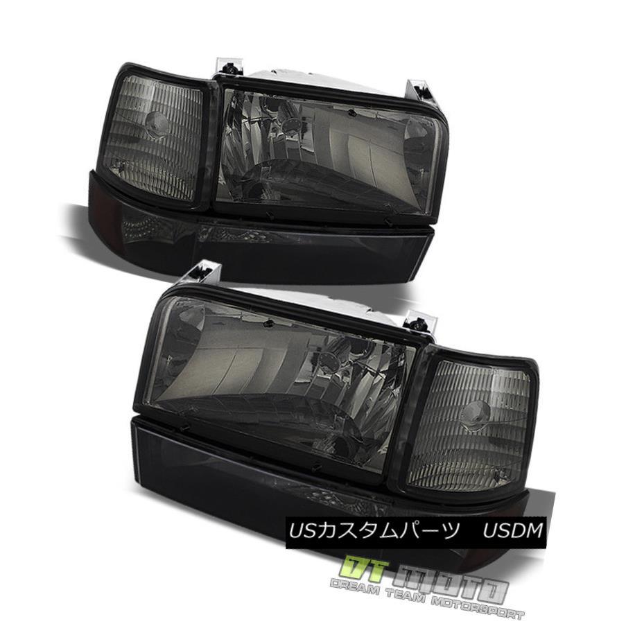 ヘッドライト Smoke 1992-1996 Bronco F150 F250 F350 Headlights Bumper Corner Lights Left+Right 煙1992-1996ブロンコF150 F250 F350ヘッドライトバンパーコーナーライト左+右