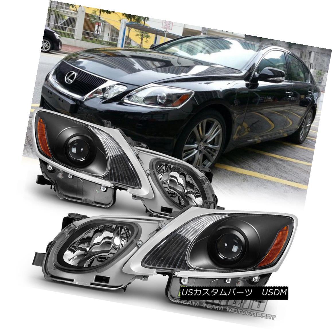 ヘッドライト HID/AFS 2006-2011 Lexus GS300 GS350 GS450h GS460 Headlights Projector JDM Black HID / AFS 2006-2011レクサスGS300 GS350 GS450h GS460ヘッドライトプロジェクターJDMブラック