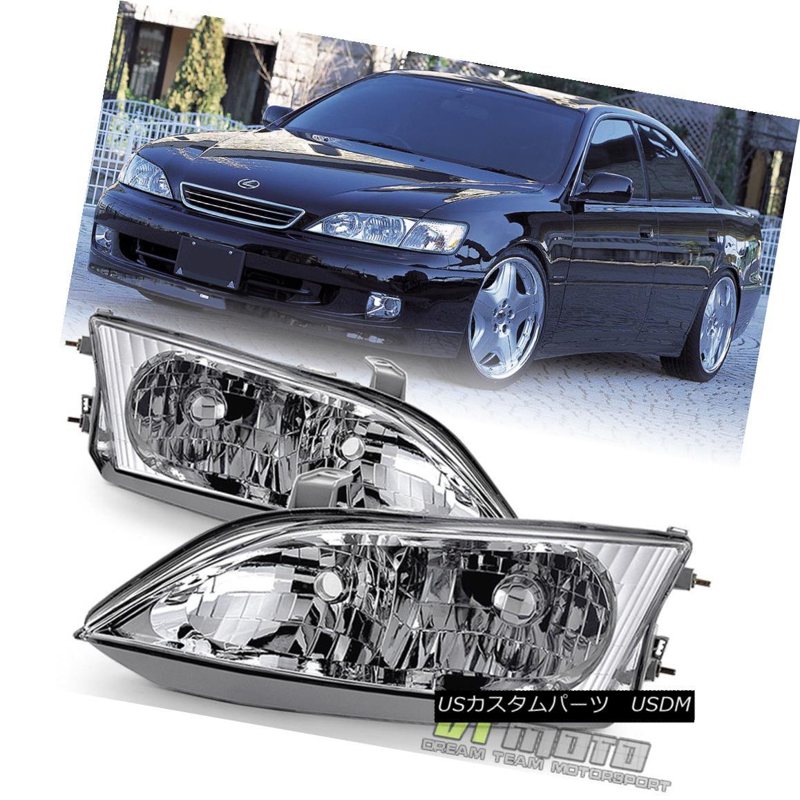 ヘッドライト 1997-2001 Lexus ES300 [Factory Style] Halogen Headlights Headlamps Left+Right 1997?2001年レクサスES300 [工場スタイル]ハロゲンヘッドライトヘッドランプ左+右